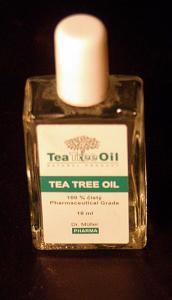tea tree oil bottle